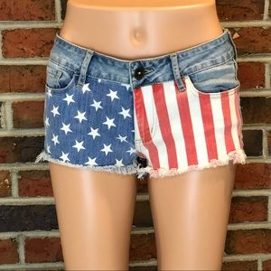 BULLHEAD American Flag Shorts Patriotic Size 3